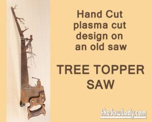 Logging saw artwork gift