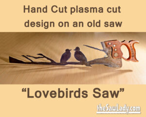 Metal Art - Lovebirds saw