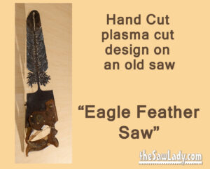 Metal Art eagle feather saw