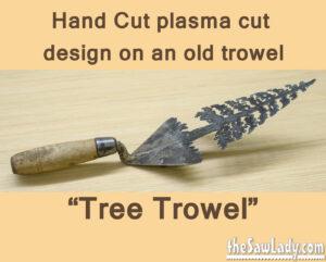 Metal Art tree trowel